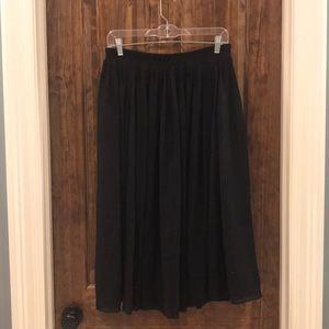 A line, pleated H&M black skirt, 10